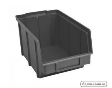 Пластикові ящики для метизів 701 чорний 125 х 145 х 230