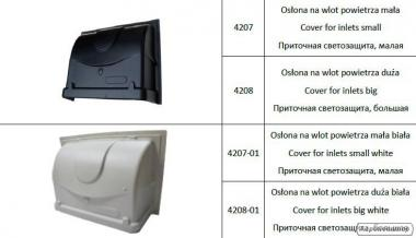 Приточная светозащита из пластика ABS для форточек