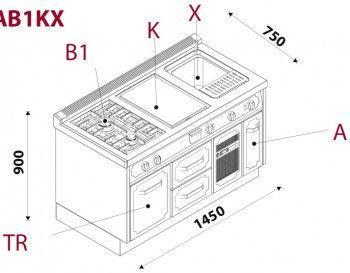 Кухонний блок CBL14TRAB1KX