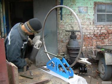 Трубогиб прокатный роликовый ручной для профильной трубы ТПРР-1.