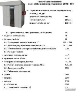 Печь хлебопекарную Бокс-600 ротационную комбинированную (газ/электро)