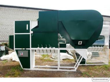 Безрешітний аеродинамічний сепаратор ІСМ-15 ЦОК з аспірацією