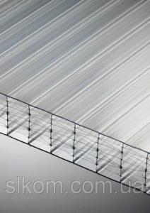 Полікарбонат стільниковий Polygal 25 мм, прозорий, 2100х6000 ТИТАН СКАЙ