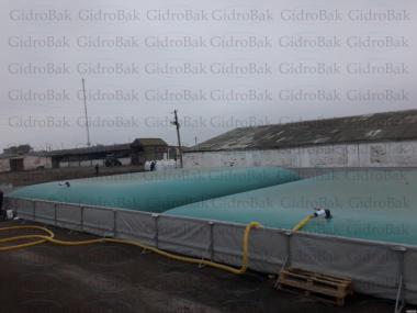 Гнучкі резервуари для зберігання рідких мінеральних добрив (КАС ЖКП)