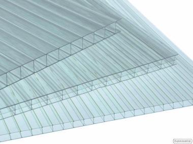 Сотовый поликарбонат для теплиц прозрачный от 3,5мм.
