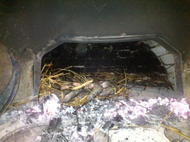 Рыба из печи на соломе сушеная