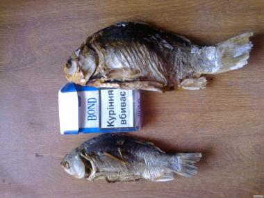 Риба з печі на соломі сушена