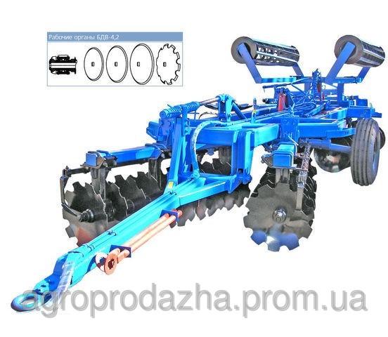 Супертяжелая борона дисковая БДВ - 4,2-01
