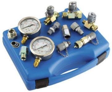 Вимірювальні гідравлічні системи, гідроакумулятори, реле тиску, штуцера, датчики тиску, витратоміри тощо