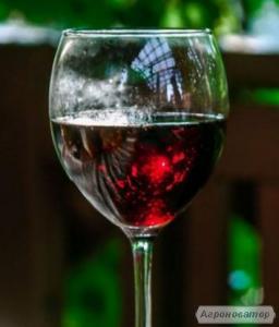 Високоякісне темно-червоне сухе вино Сапераві