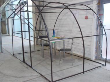 Армированная пленка на арочной теплице