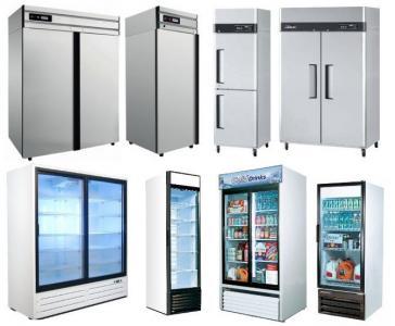 Холодильне та торгове обладнання для магазинів та супермаркетів. Вітрини, шафи, гірки/регали, бонети та ін.