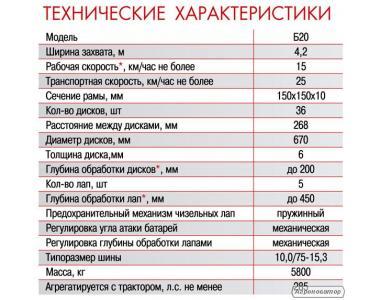 """Дисколаповая борона """"AGROLAND"""" Б20"""