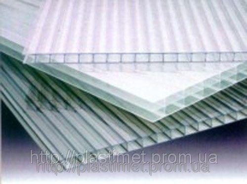 Поликарбонат сотовый (сотовый) SOTON прозрачный 6000х2100х20мм