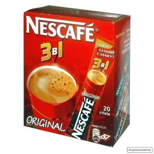 Кава нескафе 3в1