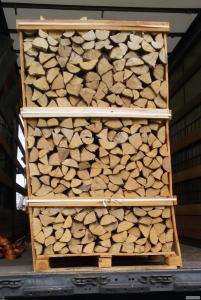 Дрова колотые сухие в ящиках для экспорта
