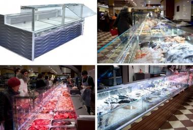 Холодильні вітрини для м'яса і риби. Розстрочка!