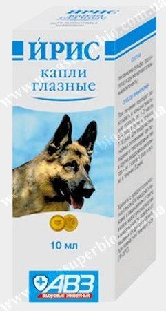 ИРИС глазные капли для собак и кошек Агроветзащита, Россия (10 мл)