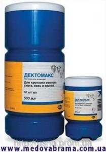 Дектомакс, Пфайзер (Pfizer), США  - противопазитарный препарат, раствор для инъекций (50 мл)
