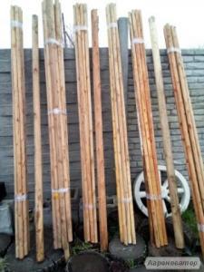 Продам стовпчики виноградні садові дерев'яні h 2600 mm, d 45-65 mm