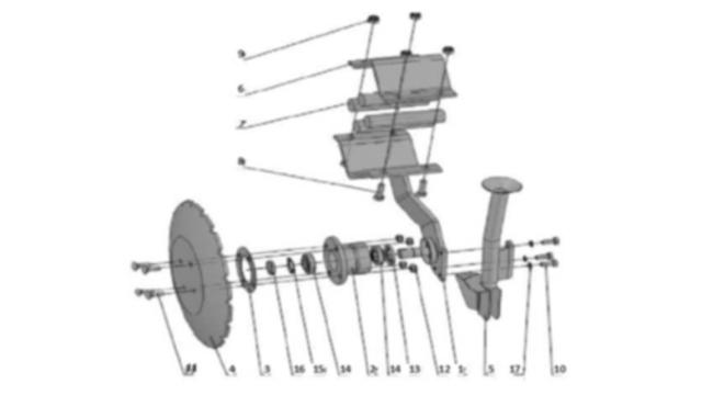 Сошник задній для зернової сівалки Unia, IDEA кпл.