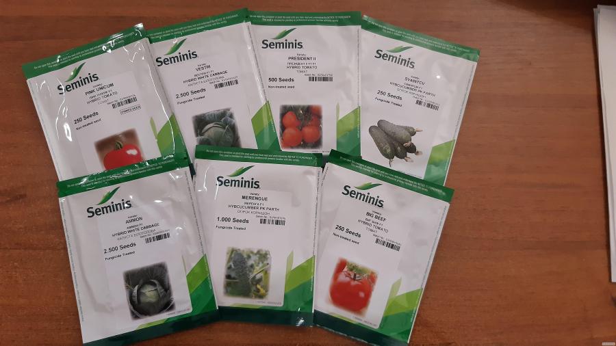 Насіння овочевих культур компанії Seminis
