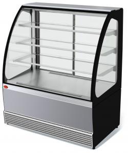 Вітрина холодильна VS-1,3 VENETO нерж