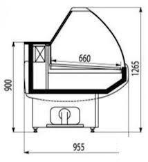 Холодильная витрина Octava/Октава 1500 Cryspi