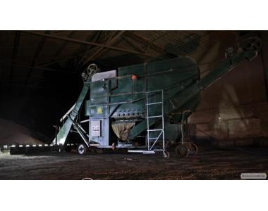 Машини очищення й калібрування зерна.