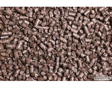 Паливні гранули (пелети) з лушпиння сонячника. Брикет RUF з деревини