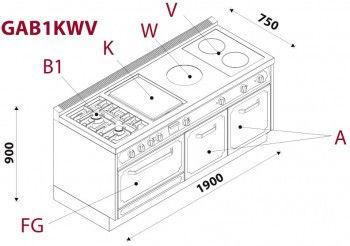 Кухонний блок CBL19FGAB1KWV