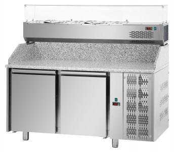 Холодильний стіл для піци 2 двері Tecnodom PZ 02 MID 80