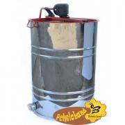 Медогонка Нержавіюча з поворотом касет 4-х рамкову, касети оцинковані під рамку РУТА 230 мм