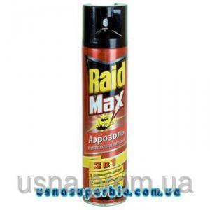 РЕЙД (Raid) від тарганів та мурах Raid МАКС 3в1 аерозоль червоний (1 фл.х 300 мл)