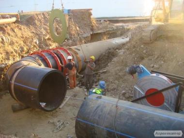 Монтаж поліетиленового трубопроводу різних діаметрів від 90 до 630