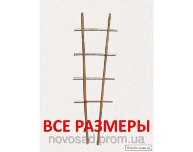 Бамбукова драбинка для підв'язки рослин на 2 опори. Бамбук