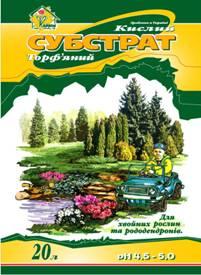"""Субстрат торфяной """"Кислый для хвойных растений и рододендронов"""""""