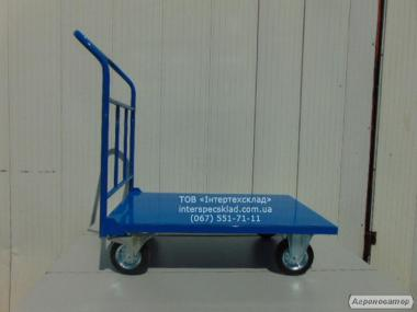 Тележка платформенная нагрузка 480кг 160мм диаметр колёс