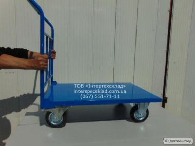 Тележка платформенная нагрузка 540кг 160мм диаметр колёс. Гарантия 2г.
