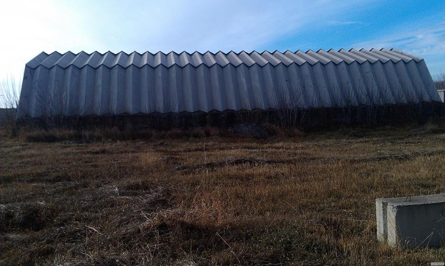 Зерносховище, ангар шатровий дюралюмінієва 30х12 м.