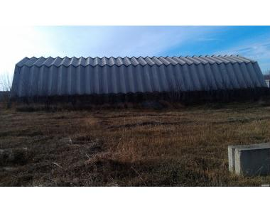 Зернохранилище, ангар шатровый дюралюминиевый 30х12 м.