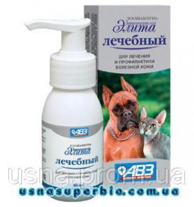 Зоошампунь для собак Еліта лікувальний (60 мл)