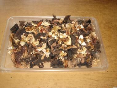 Продам грибной микс (сухие белые и подберёзовики)