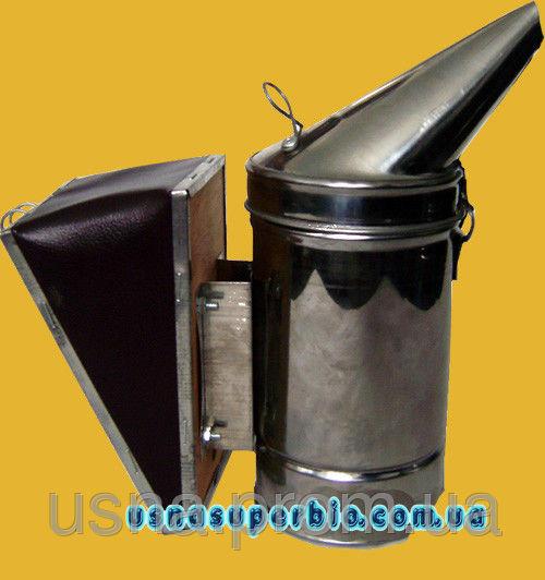 Димар пасічний з нержавіючої сталі, хутро знімний з шкірозамінника