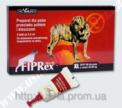 Фипрекс 75 XL спот-он (FIPRex 75) – краплі для собак від кліщів і бліх (5,5 мл)