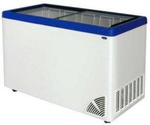 Морозильный ларь с прямым стеклом ARO – 500/1 (4-корзины + колеса)