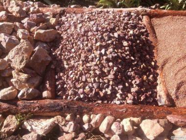 Декоративный бутовый камень, щебень
