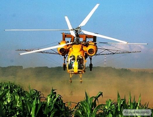 Авиаобработка кукурудзи вертольотом та літаком - авіапослуги дельтаплана