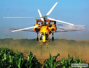 Авиауслуги по обработке пшеницы и подсолнечника