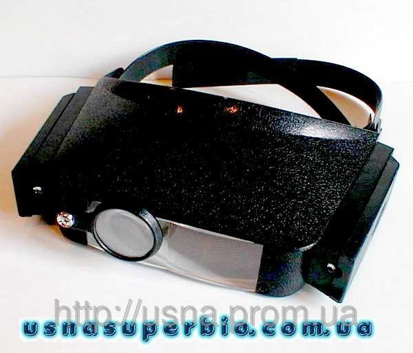 Бинокуляр лупа MG81007, увеличение 5Х боковая подстветка
